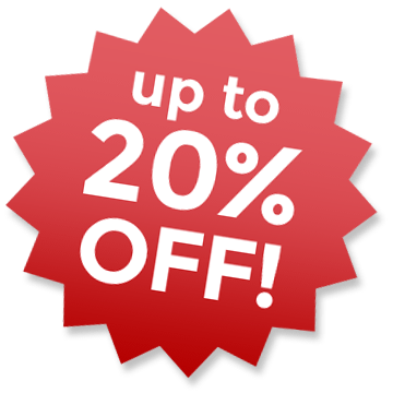 Up to 20% off!