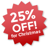 25% off for Christmas