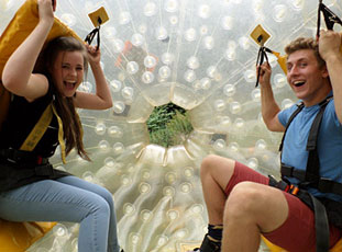 Harness zorbing ride