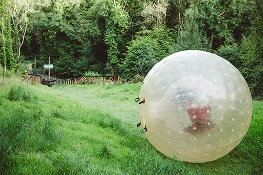 GO Zorbing downhill course